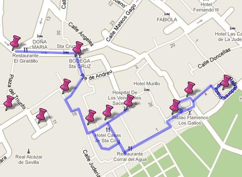 Ruta por el Barrio de Santa Cruz