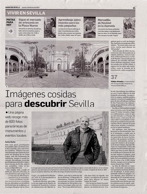 Diario de Sevilla 2 de Enero de 2014 web T